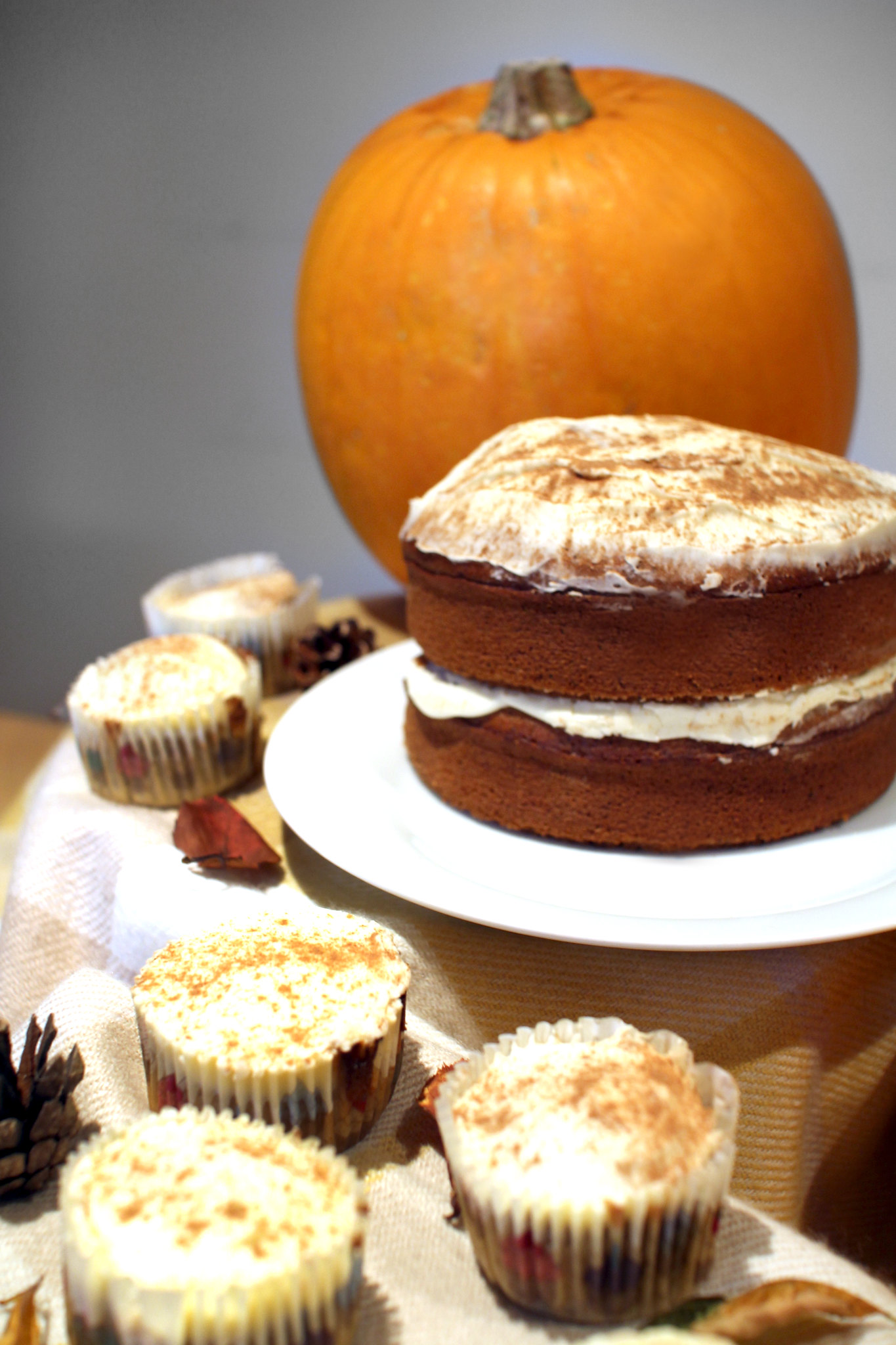 Pumpkin Spiced Latte Cupcakes Recipe Food Blogger UK The Little Things