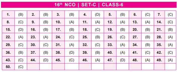 NCO Answer Keys class 6
