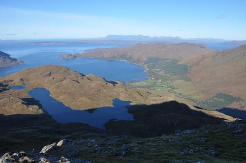 Inverie Bay from Sgurr Coire nan Gobhar