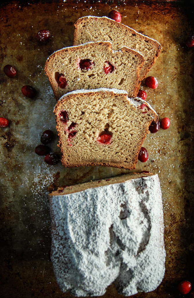 Cranberry Applesauce Bread- Vegan and GlutenFree from HeatherChristo.com