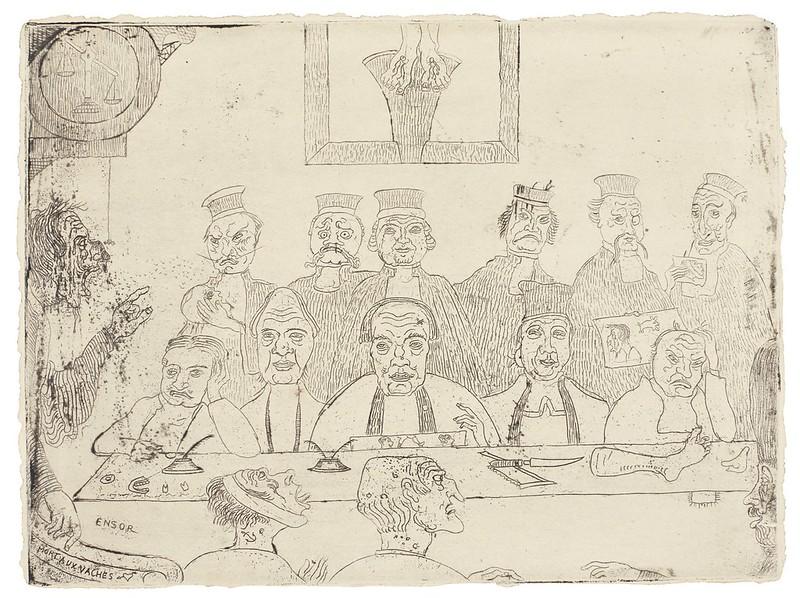 James Ensor - LES BONS JUGES, 1894