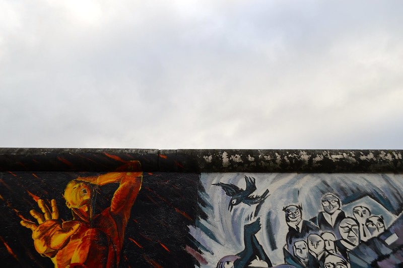 this is a photo of the east side gallery