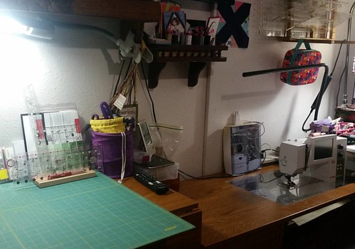 Reorganizing the Sewing studio. Lots of projects found,  now to sew!