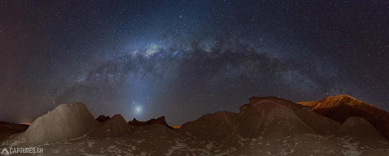 Milky way Panorama - Atacama desert