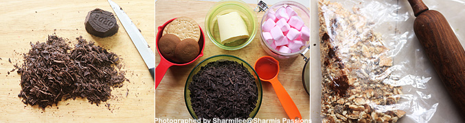 How to make Christmas Rocky Road Crunch Bars Recipe - Step1
