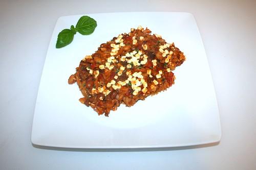 50 - Greek ground meat casserole - Served / Griechischer Hackauflauf - Serviert