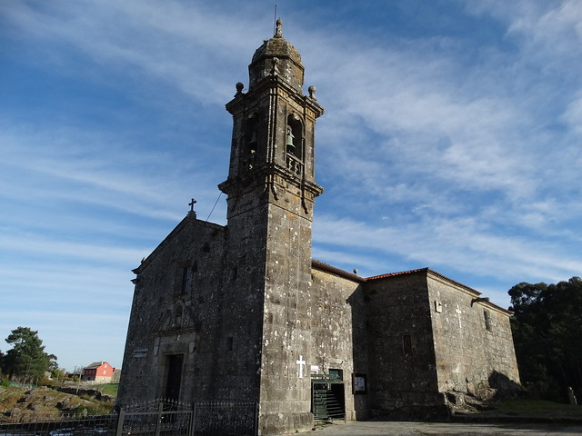 Iglesia de Santa María de Nebra en Porto do Son