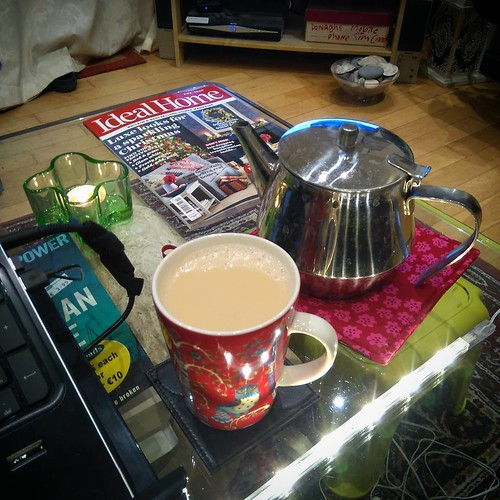 Pot of tea ☕ Ready to skype with a friend 😃