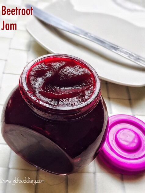 Beetroot Jam Recipe for Toddlers and Kids2