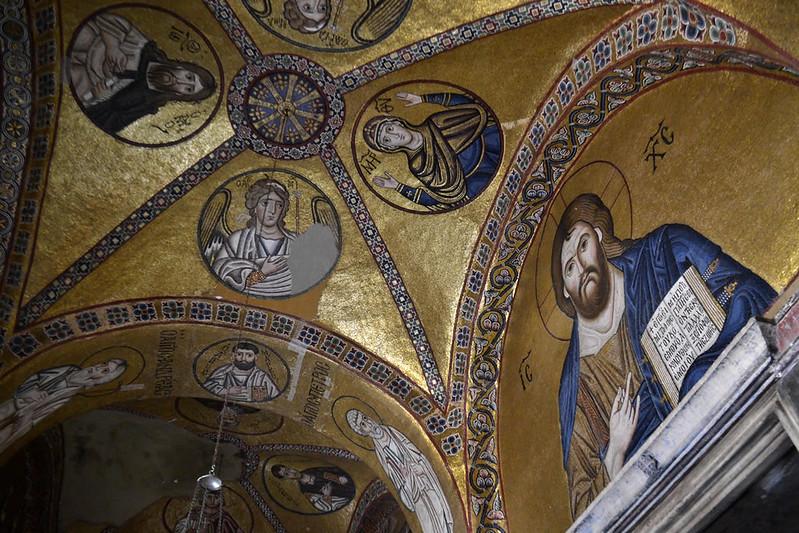 Los magnificos mosaicos del nártex de Hosios Loukás