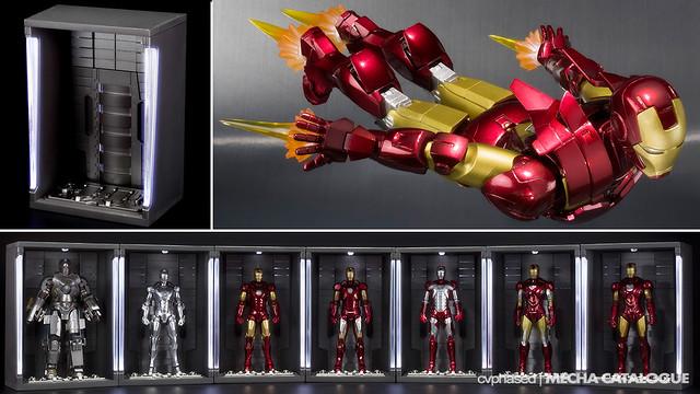 S.H.Figuarts Iron Man Mark 6 + Hall of Armor