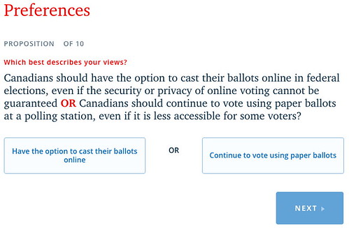 Preferences - cast ballots online