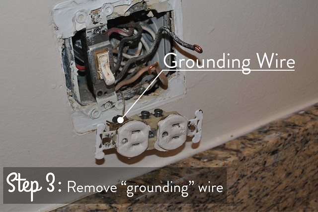 remove grounding wire