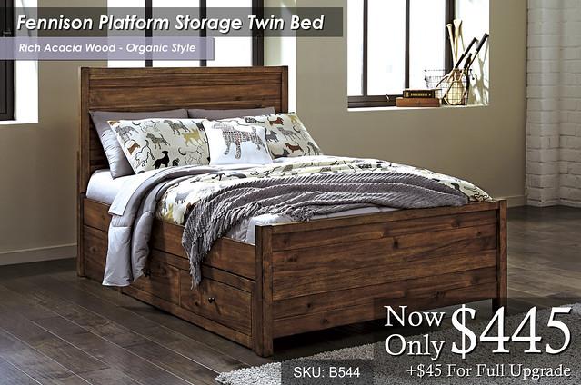 Fennison Platform Storage Bed