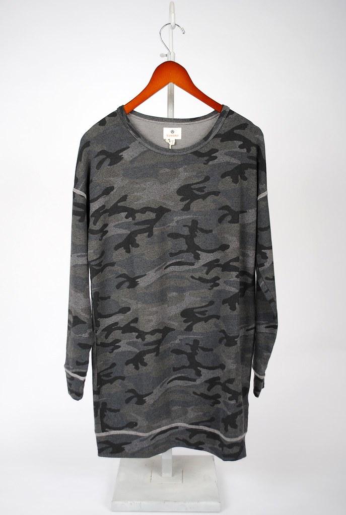 Camo Tunic Sweatshirt