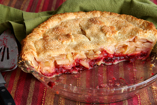apple cranberry pie 8