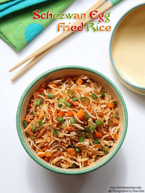 Schezwan Egg Fried Rice  Recipe