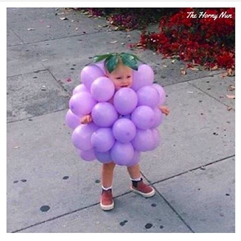 Ooh, how soon do I get to dress my son up like this? 🍇(thanks @thehornynun)