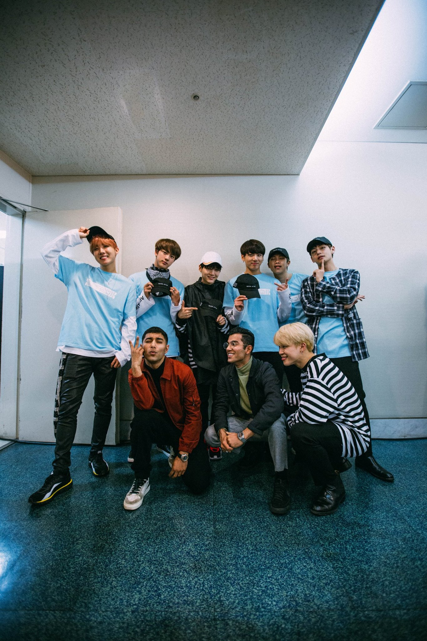 [Picture] BTS with Quick Style (Dancing crew) [161129]