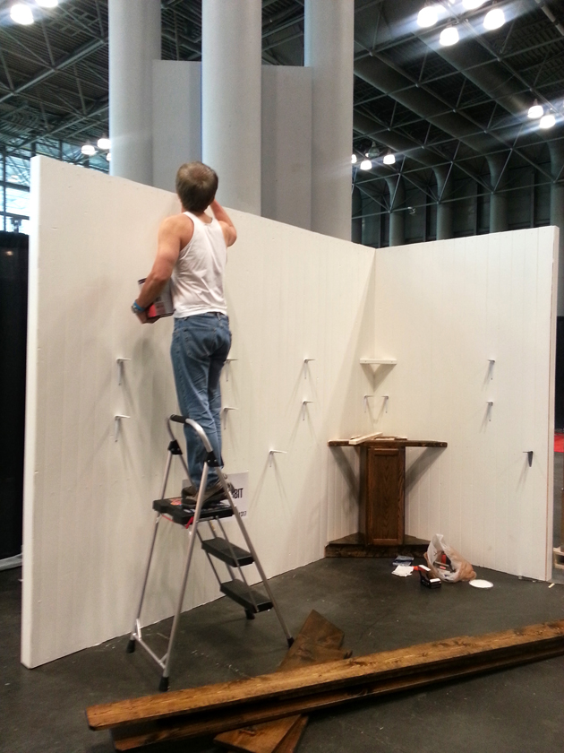 Building booth walls