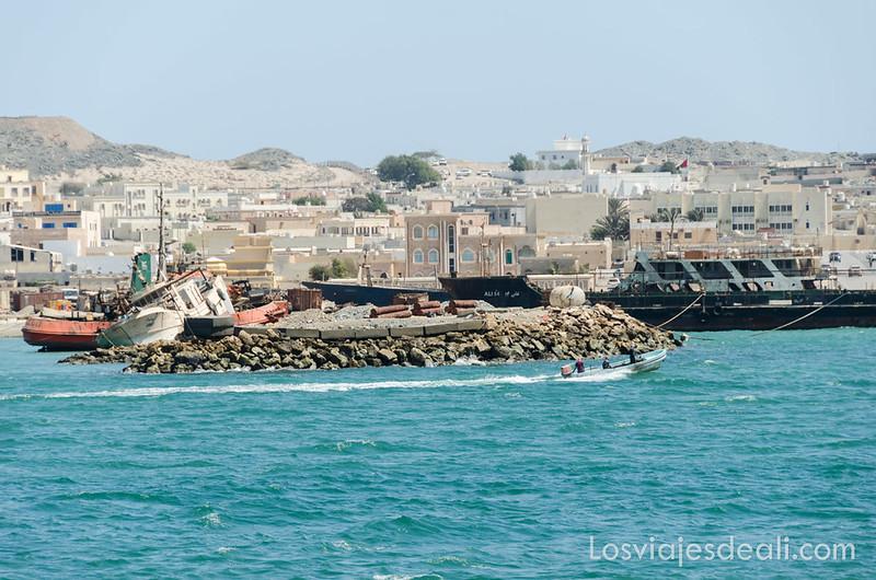 ciudad de Dhuwwa en la isla de Masirah