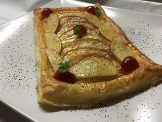 Bandas de frutas con crema pastelera