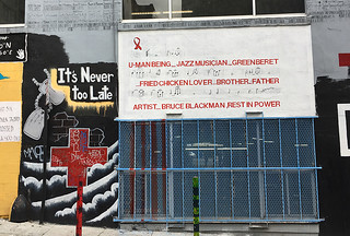 Shannon St Murals - Bruce Blackman mural