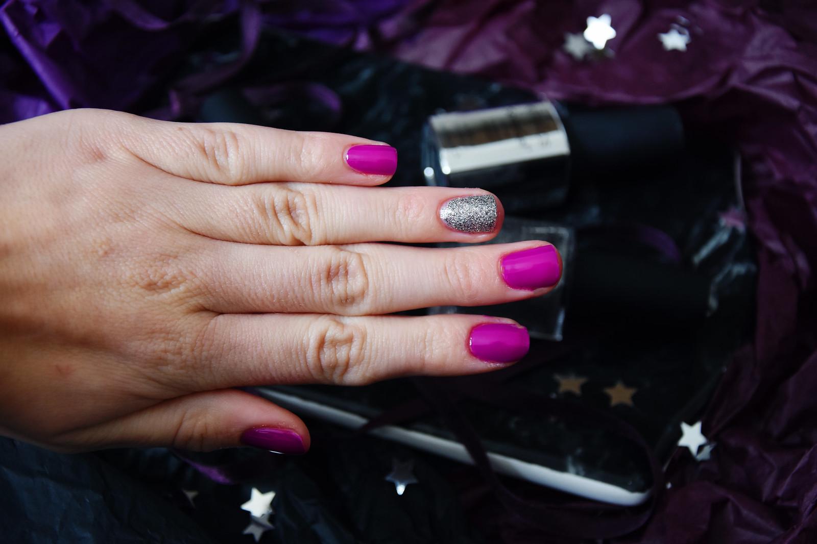 Bold violet manicure