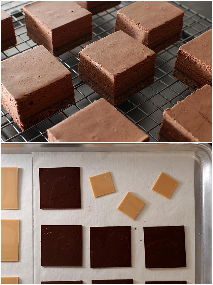 ריבועים אישיים עם קישוטי שוקולד