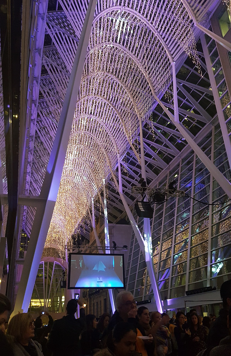 Brookfield Place Christmas lighting ceremony