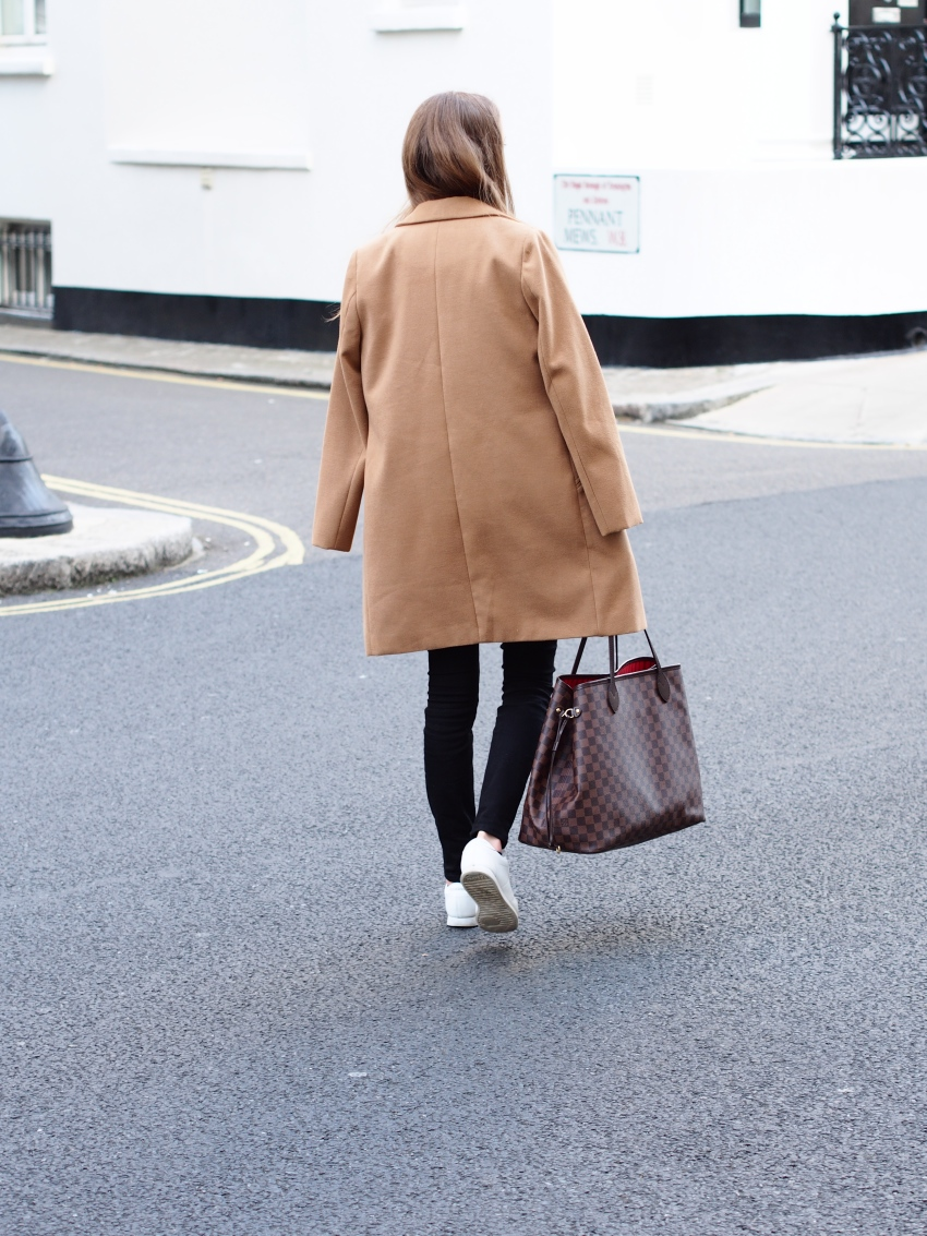 camel coat in london