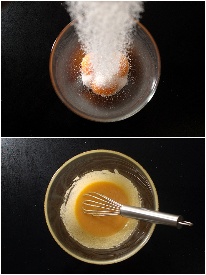 טורפים חלמונים עם סוכר