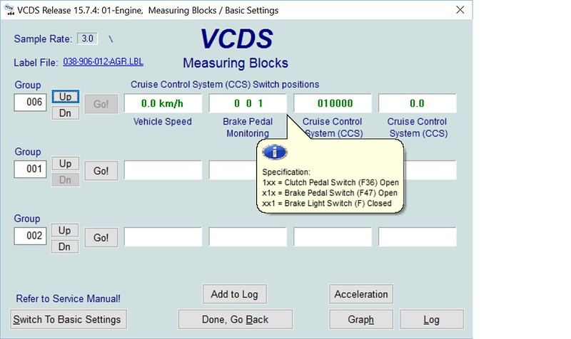 Vcds implausible signal