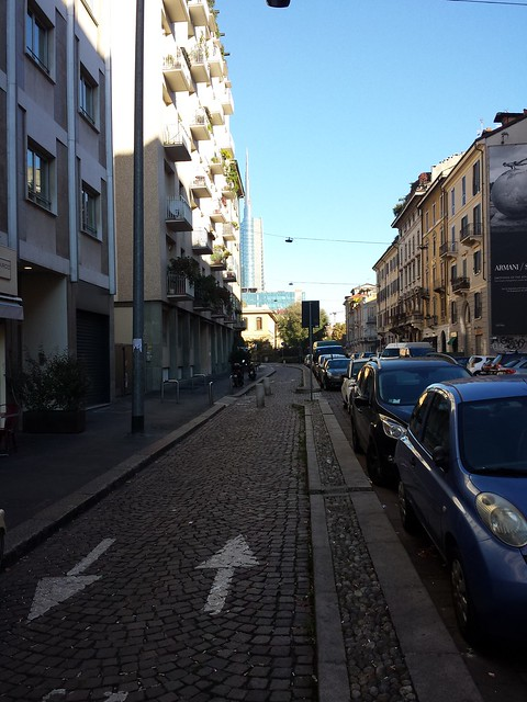 Cycle lanes of Milan