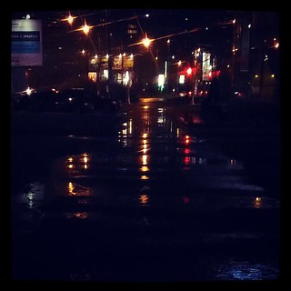 Truly a long and winding road among puddles, for #365days project, 301/365