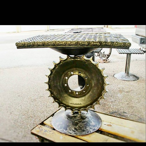Welded Scrap Metal Art Table By Recycled Salvage Design Recycledsalvagedesign Scraplife