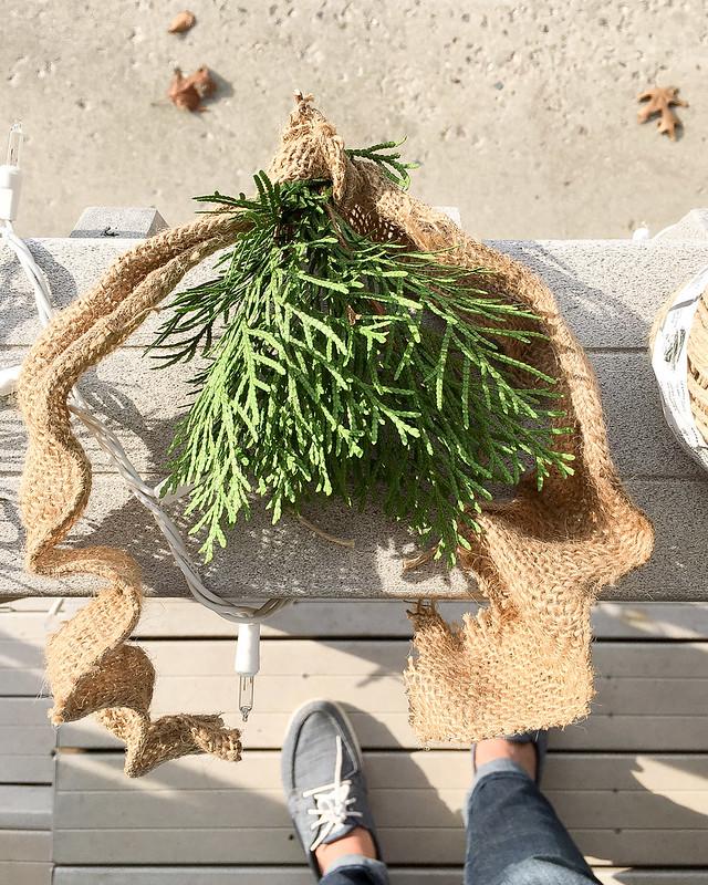 DIY Burlap Cedar Tutorial | www.graceinmyspace.com