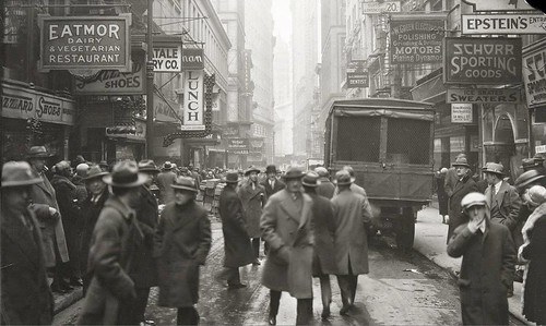Nassau Street toward John Street, March 19, 1926.