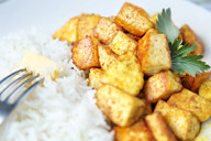 Rise and paneer