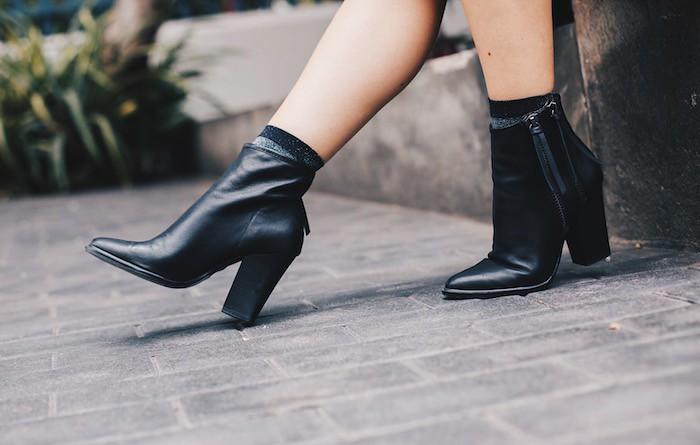 botines con calcetines