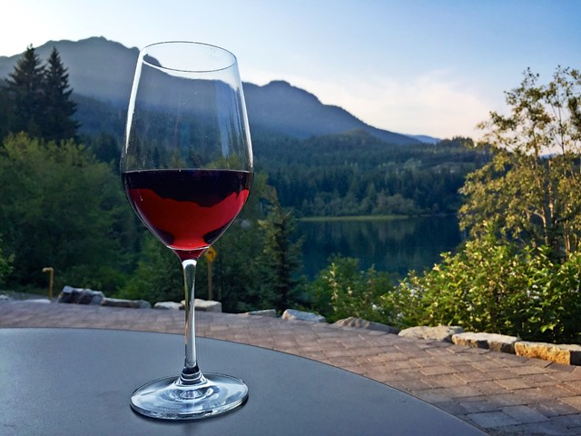 Wine on the Cure Lounge Patio