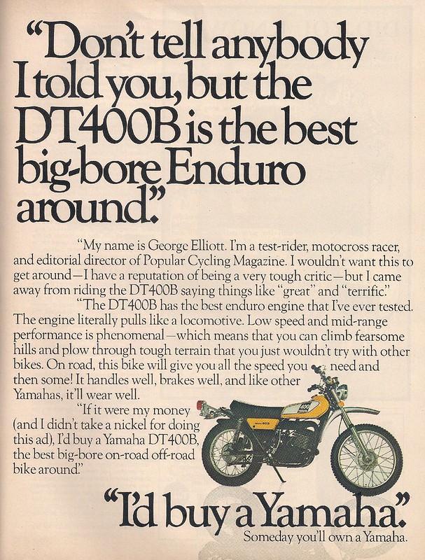 Yamaha DT400 2