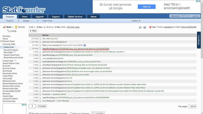 nettmobbing statcounter 17 november