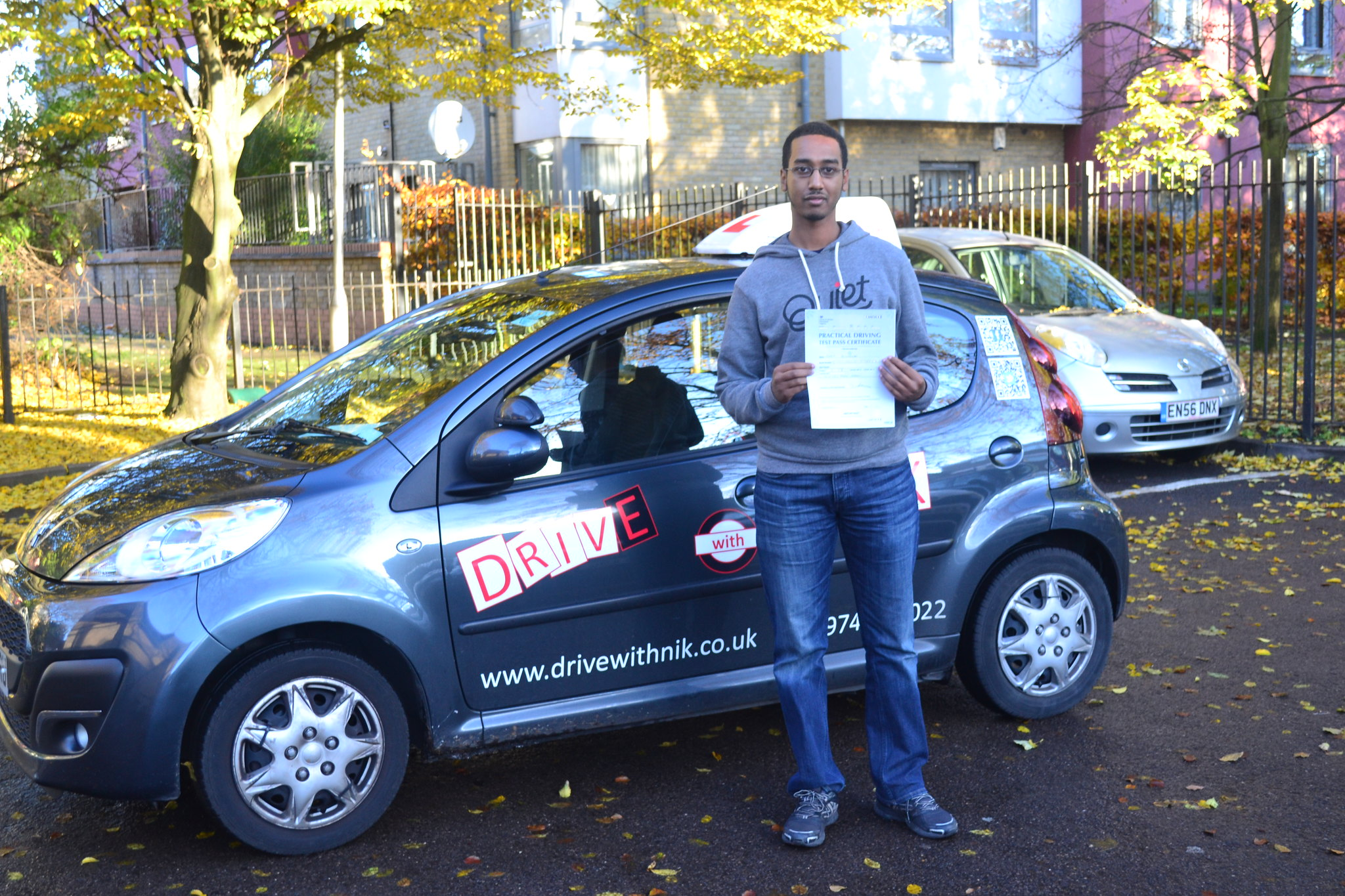 Manual driving lessons North London Awet passed his practical driving test first time with Drive with Nik