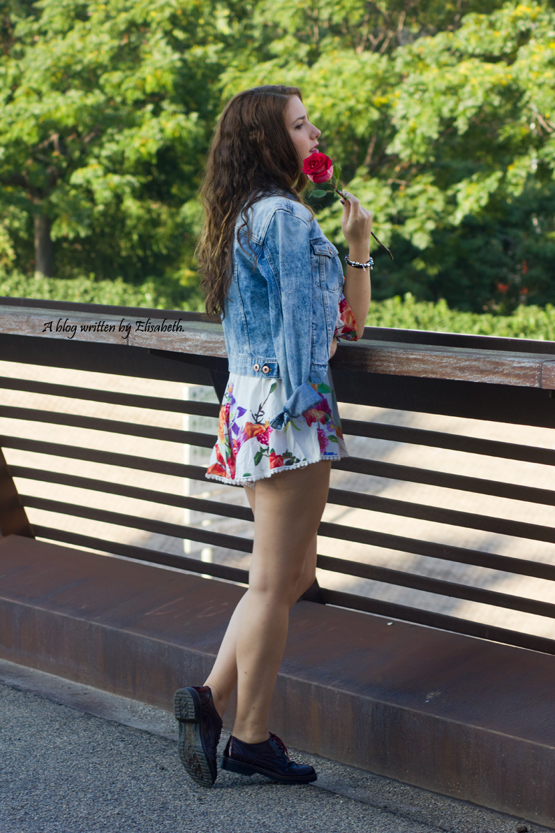 kimono floral chaqueta vaquera denim top shana burgundy oxfords primark pull and bear inditex HEELSANDROSES(5)