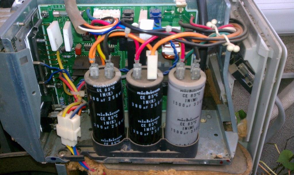 Capacitors in Fujitsu AS281PDN air conditioner