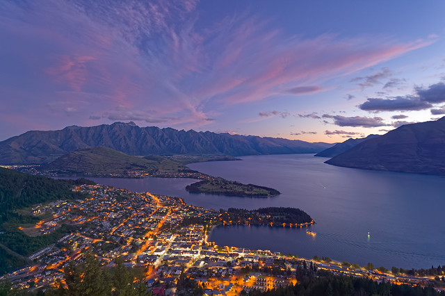 Evening at Queenstown, New Zealand