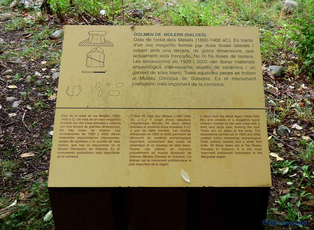 Gresolet a Bagà -05- Dolmen de Molers -03- Info (06-10-2016)