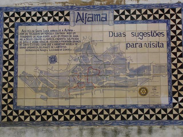 Alfama sign, Lisbon
