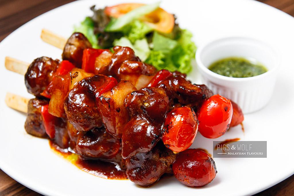 Pigs & Wolf pork kebab